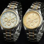 New Men's Fashion Quartz Stainless Steel Band Business Wrist Watch Watches Gift