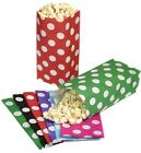 10 SPOTTY POLKA DOT PICK AND N MIX PARTY BAGS - CANDY SWEET BUFFET POPCORN BAG