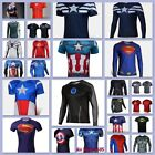 Man Marvel Heroes Costume T-shirt Superhero L/S Sleeve Running Tops Jersey Tee-9 image
