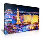 LAS VEGAS Night View Trip Canvas Wall Art Picture Print ~ More Size