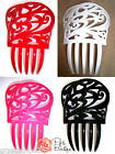 New Traditional Spanish Flamenco Hair Comb Peineta - Red Black Pink White