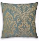 We301a Gray Green Damask Flower Chenille Throw Pillow Case/Cushion Cover*Size