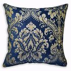 We304a Blue Damask Flower Chenille Throw Pillow Case/Cushion Cover*Custom Size