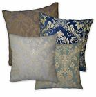 We+Turquoise Blue Mauve Grey Blue Flower Damask Cotton Cushion Cover/Pillow Case