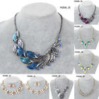 1x Charm Jewelry Crystal Chunky Statement Bib Pendant Chain Choker Necklace HUK