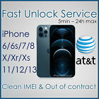 FACTORY UNLOCK SERVICE CODE AT T ATT APPLE IPHONE 3 4 4s 5 5S 6 6s 7 IMEI CLEAN