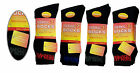 3/6/12 Pairs Mens Thermal Socks Outdoor Work Black Thermal Socks UK 6-11 DD1
