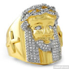 18K Gold Plated Large Hand Made Hip Hop Jesus Face Ring