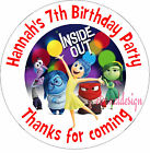 PERSONALISED BIRTHDAY INSIDE OUT STICKERS SEALS GIFT FAVOURS INVITES KIDCS60