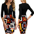 2015 New Sexy Womens V neck Bodycon Business Party OL Work Pencil Cocktail Dress