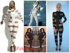 Celebrity Inspired Mesh Panel High Neck Unitard Size14UK/10USA/42EU