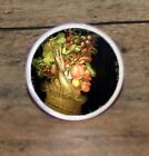Arcimboldo SPRING altered art Cuff Link or Tie Tack or Ring or Pendant or Pin