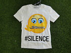 T SHIRT CATCH22 VINTAGE SMILE EMOTIONS SILENCE BIANCO