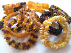 """Genuine  Baltic Amber Bracelets """"Memory Wire"""" -More option"""