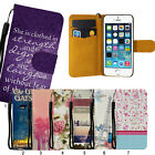 World Famous Scene Style Slim Flip Leather Case & Strap for iphone 5S/C 6 Plus