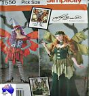 Free Post SIMPLICITY SEWING PATTERN Ladies Fantasy Fairy Cosplay Costume 1550