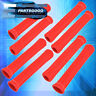 FOR FORD X8 SLIP ON SPARK PLUG WIRE HEAT SLEEVE INSULATION WRAP N/A KIT RED