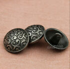 New Fashion 12PCS Hematite Cloud Carving Round Metal Shank Buttons 18mm/28L