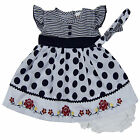 baby girl dress set with headband diaperwear clothes outfit size 3 6 9 months