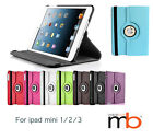 New 360 Degrees Rotating Case Cover For I pad Mini 1/2/3 and iPad mini 4