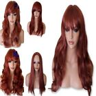 GINGER RED Wig Party Halloween Natural Long Curly Straight Wavy Ladies WIG