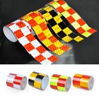 """2""""X118""""  Chequer Night Reflective Safety Warning Conspicuity Tape Strip Sticker"""