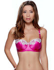 Lepel Victoria Pink and Ivory Padded Balcony Bra 143704