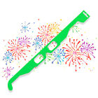 Fireworks 3D Glasses Neon Green Parties Discos Raves Amazing Light Show Events