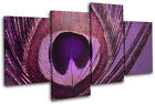 Peacock    PURPLE PINK Abstract MULTI CANVAS WALL ART Picture Print VA