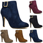WOMENS LADIES PLATFORM STILETTO HEEL PARTY HIGH HEEL ANKLE SHOES SIZE UK