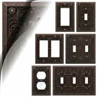 Wall Switch Plate Cover Filigree Aged Bronze Outlet Toggle Decora Rocker Metal