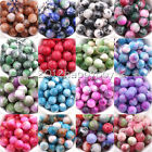 18 Colors Unique Double-Color Gradient Loose Spacer Round Craft Jade Beads 10mm