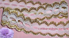 """5 Yd Lace Trim Gold Beading 1-3/8"""" Galloon B15V Added Items Ship No Charge"""