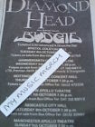 DIAMOND HEAD / BUDGIE 84 TOUR DATES small original magazine advert fridge magnet