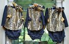 18 Mo Handmade Infant Cheetah Cotton Outfit w/Bloomers, LS Shirt/Leggings & Bow!