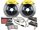 STOPTECH TOURING BBK BIG BRAKE KIT (FRONT/YELLOW/4 PISTONS/DRILLED/328MM ROTORS)