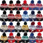 New Era MLB Pom Beanie 2015 Retro Chill Snowflake Many Teams OSFA Team Colors