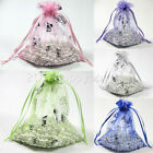 25/100PCS Hi-Q Organza Gift Bag Sheer Jewelry Pouch Wedding Favor Bags 12x9cm