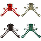 """Traditional Metal Christmas Tree Stand 4"""" - Various Colours, For Trees up to 7ft"""