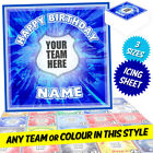 Personalised Football Soccer Teams Square Cake Topper Printed on Icing