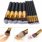 10Pcs Cosmetic Brush Makeup Face Powder Eyeshadow Blush Brushes Set Beauty Tools