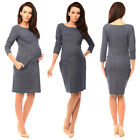 Purpless Maternity Denim Look Pregnancy Tulip Dress Top Tunic with Pockets 6100