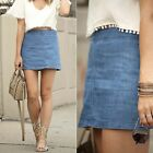 ZARA NEW COLLECTION 2015. A LINE BLUE DENIM MINI SKIRT WITH ZIP. REF 6688/202.