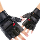 Fashion Men Weight Lifting Gym Exercise Training Fitness Sports Leather Gloves
