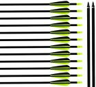 "New 31"" Archery Hunting Carbon Fiber Arrows with Field Points for Recurve Bow"