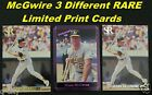 Mark McGwire _ 3 Different Limited-Print Cards _ Choose 1 or More