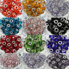 5Pcs Top Glass Murano Big Hole Lampwork Beads Charm Bracelet Necklace 14x10mm