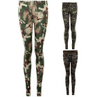 Womens Camouflage Leopard Camo Skull Combat Grunge Army  Party Leggings