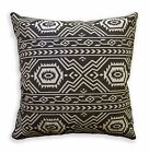 AL253a Pale Tan Black Geometric Cotton Canvas Pillow/Cushion Cover Custom Size