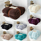 Luxury Soft Teddy Bear Throw Blanket Cuddly Thick Winter Warm Sofa Bed Throw New